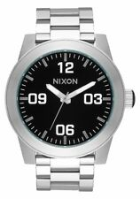 **BRAND NEW** NIXON WATCH THE CORPORAL SS BLACK A346000 NEW IN BOX!