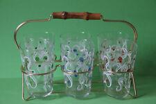 Gläserhalter aus Messing mit 6 bunten Gläsern Saftglas Wasserglas 061866