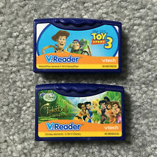 V.Reader VTech Cartridges DISNEY Lot Toy Story 3 & Tinkerbell Great Fairy Rescue