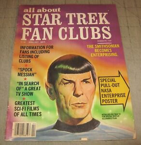 All About STAR TREK FAN CLUBS #2 (Apr 1977) Good- Condition Magazine - TOS SPOCK