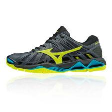Mizuno Mens Wave Tornado X2 Indoor Court Shoes Blue Grey Sports Squash Badminton