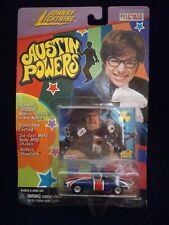 New listing Austin Powers Shaguar Diecast W/ Fat Bastard Card Johnny Lightning 1999