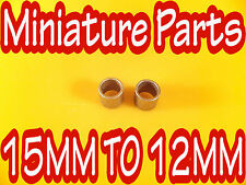 PIT BIKE SPINDLE REDUCER INSERTS TO REDUCE 15mm WHEEL BEARING TO 12mm REDUCERS