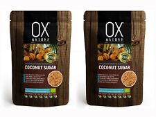 COCONUT SUGAR  Organic Pure & Unrefined 2x 125g Total 250g, 8.8oz  - Ox Nature