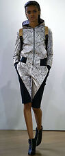 Christopher Raeburn Lace Floral Iridescent Pearl Laminated Bomber Jacket sz M