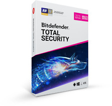 Bitdefender Total Security 2019 5 Devices 1 Year + Support + Proof of Genuine