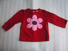 Girls Boutique Bambini Pink Flower Applique Shirt Top T-Shirt Size 9-12M 80 Euro