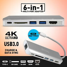 Type C to USB 3.0 Adapter female Dual USB SD Card 4K HDMI Rj4 Charge Port Cable