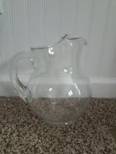 Clear glass water pitcher 9 Inches Tall