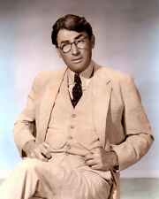 "GREGORY PECK TO KILL A MOCKINGBIRD 1962 ACTOR 8x10"" HAND COLOR TINTED PHOTO"