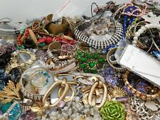 Huge 19 lbs Jewelry Repair Lot. For Repair, Repurpose, Craft or Art Project.
