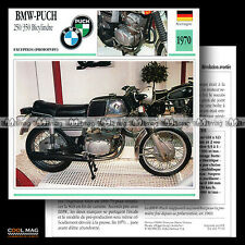 #075.01 BMW-PUCH 250/350 BYCILINDRE 1970 Fiche Moto Motorcycle Card