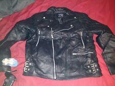 MENS Black Leather Jacket XL MGSV