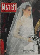 Paris Match n°368- 1956 - Les Mariés de Monaco... Grace et Albert