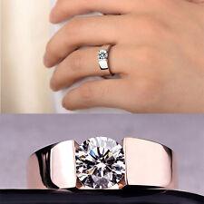 Mujer Anillos De Boda Cubic Zircon Rose Cristal  Anillo Ring joyería