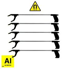 PICK UP REACHING TOOL ALUMINIUM 5 PCS MAGNET LITTER PICKER GRABBER 76cm MOBILITY