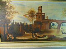 """Altes Gemälde """"mittelalterliche Szene"""" von Contardo Barbieri? Öl auf Leinwand"""