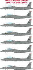 Caracal Decals 1/72 USAF F-15E Strike Eagle (Multiple Marking Options) # 72063
