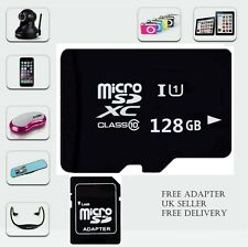 128GB MICRO SD CARD CLASSE 10 TF FLASH MEMORY MINI SDHC SDXC Adattatore-Free