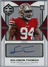 2017 Panini Limited #151 Solomon Thomas Auto RC SER 4/5 NM/MT (49 'ers) Look!
