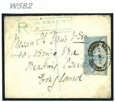 W582 1908 South Africa COGH *King Williamstown* CAPE Registered Cover Reading