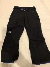 The North Face Girls Small Snow Ski Hyvent Waterproof Pants Black  EUC.