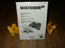 PAL N64: Nintendo 64 Console Connection Manual (French and Dutch) Nintendo 64