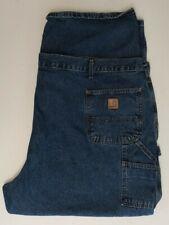 CARHARTT Mens 54x30 Original Dungaree Fit Carpenter Blue Jeans Medium B13DPS