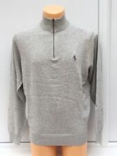 Ralph Lauren Polo Golf Grey Heather Half Zip Jumper Grey Logo Size 2xl