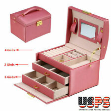 Jewelry Box Organizer Case Necklace Earring Rings Watch Storage Box Gift US SHIP