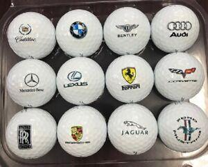 1 Dozen (Luxury Automobile Logos) Titleist Mix Golf Balls