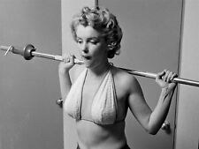 Marilyn Monroe - Marilyn working out in a terry cloth bikini , 1950's