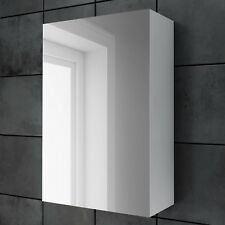 Bathroom Mirror Cabinet Storage Furniture Unit Wall Hung Accessory White 600x400