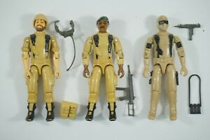 GI JOE COBRA CUSTOM 1983 DESERT TEAM TAN BREAKER STALKER SNAKE EYES + WEAPONS
