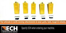 E18TL ESCO STD Bucket Teeth Pack of 5 with Pins & Rubber Locks