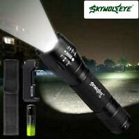 10000LM X-XML T6 Zoomable Tactical LED Flashlight Torch+18650 Battery+Charger LI