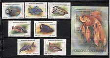 AQUARIUM FISH ON MALAGASY / MADAGASCAR 1994 Scott 1192-1199, MNH