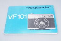 Voigtländer VF101 Bedienungsanleitung Manual Multi Linguage / XF74