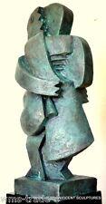 20 kg schwere Bronzefigur - Kubistischer  Akt signiert Archipenko
