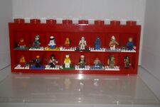 Lego Red Display Case with Lego Minifigure Lot