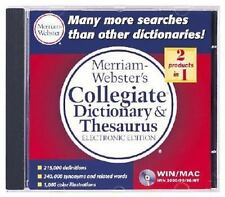 Merriam-Webster's Collegiate Dictionary Thesaurus Electronic Edition by Merr #N3