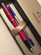 NEW PARKER URBAN METALLIC PINK CT ROLLERBALL PEN-FRANCE-BLUE INK-GIFT BOX