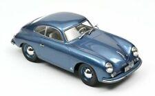Porsche 356 Coupè anno 1952 Blu Metallizzato 1 18 Norev