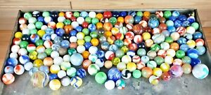 Antique Marble Lot, 250+ Onion Skin, Hand Blown, Ox Blood, Shooters Estate Fresh