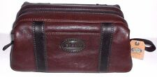 Fossil Estate Framed Wash Bag #ML8297201 in Dark Brown Leather New With Tags