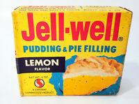 Vintage 1960s Safeway Jell-Well Jello Lemon Fruit Dessert Full NOS Sealed Box