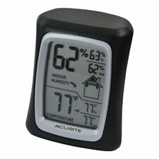Acurite Temperature & Humidity Monitor Indoor Outdoor Thermometer  00325 - Black