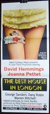 DAYBILL MOVIE POSTER - ORIGINAL - BEST HOUSE IN LONDON - DAVID HEMMINGS