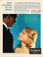 PUBLICITE  1960   GEMEY  cosmétiques FLUID MAKE-UP