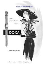 PUBLICITE DOXA MONTRE LE LOCLE SUISSE ART DECO DE 1951 FRENCH ORIGINAL WATCH AD